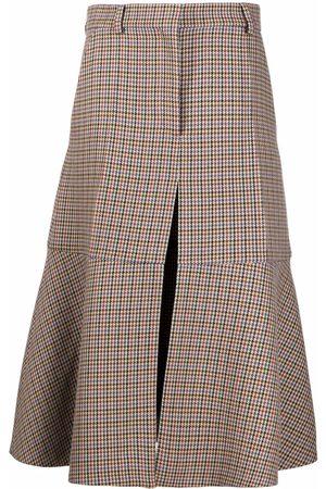 Stella McCartney Mujer Estampadas - Falda midi con estampado pied de poule