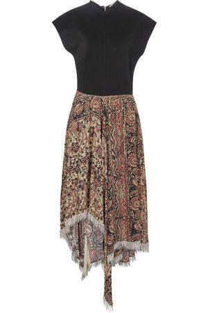 J.W.Anderson Mujer Asimétricos - Vestido midi asimétrico con adornos