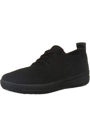 FitFlop F-Sporty Überknit TM Sneakers, Zapatillas de Gimnasia Mujer, (All Black 090)