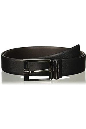 Armani Leather Belt With Plaque Cinturón