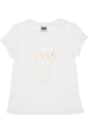 "Karl Lagerfeld | Niña Camiseta ""karl"" De Mezcla De Algodón Orgánico 8a"