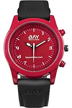 BAY WATCHES Baywatches-RelojparaHombreyMujerRojoyNegrodePulseraanalógicoSanFranciscovsHudson