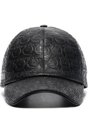 Salvatore Ferragamo SF AO TONAL LOGO BASEBALL CAP BLACK