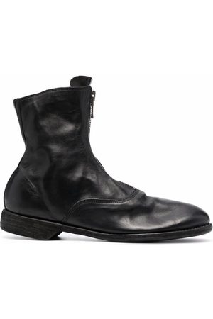 GUIDI Botines - Leather zip-front ankle boots