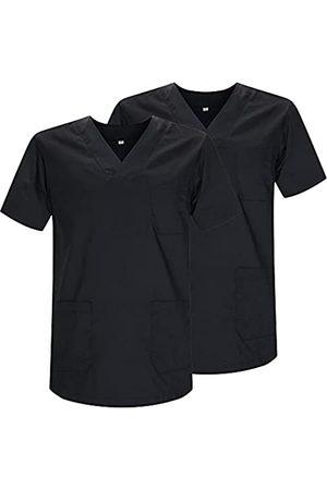MISEMIYA Pack*2 - Casaca Sanitarios Unisex Uniformes Sanitarios Cuello Pico Mangas Cortas Uniformes Laboratorios - Ref.817 * 2 - XXL