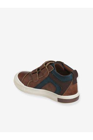 Vertbaudet Niño Zapatillas deportivas - Zapatillas MID con cierre autoadherente para niño, especial autonomía marron oscuro liso