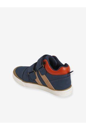 Vertbaudet Niño Zapatillas deportivas - Zapatillas de caña alta con cierre autoadherente, para niño oscuro liso