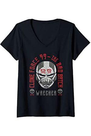 Star Wars: The Bad Batch Mujer Clone Force 99 Wrecker Mask Camiseta Cuello V