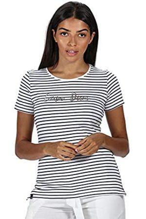 Regatta Olwyn-Camiseta De Manga Corta Y Algodón Coolweave A Rayas T-Shirts/Polos/Vests, Mujer
