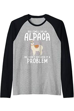 Alpaca Farmer Gifts And Shirts Alpaca Farmer - Yes I Smell Like An Alpaca Camiseta Manga Raglan