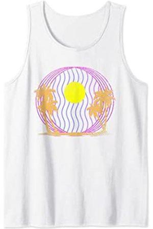 Vaporwave Regalo 80s 90s Estética Aesthetics Arte Vacaciones Del Verano Atardecer Playa Synthwave Vaporwave Camiseta sin Mangas