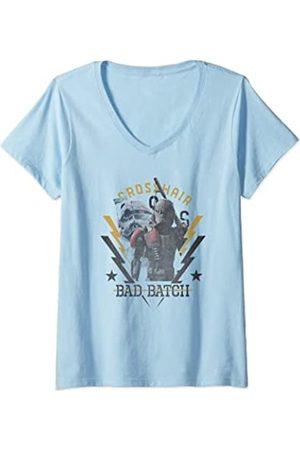 Star Wars: The Bad Batch Mujer Crosshair Army Crate Camiseta Cuello V