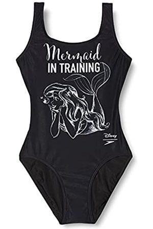 Speedo Little Mermaid Slogan U Back Bañador, Mujer, Negro (Little Mermaid 'In Training' Black/White)