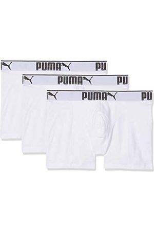 PUMA 3 x Mens Sueded Cotton Boxer Shorts White 2XL