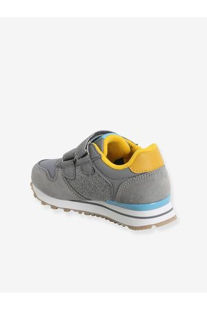 Vertbaudet Zapatillas estilo running para niño, especial autonomía medio bicolor/