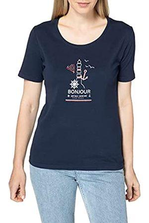 Blue Seven Damen T-Shirt mit Druck, Rundhals Camiseta