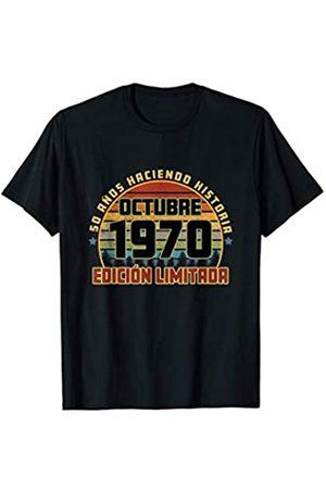 Cumpleaños Octubre 1970 50 Años Camiseta Haciendo Historia Camiseta