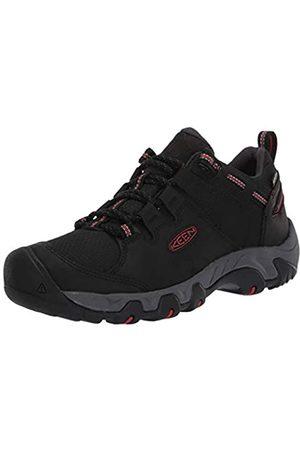 Keen Steens Low Height Waterproof Hiking Shoe, Zapatos para Senderismo Hombre, Black/Bossa Nova