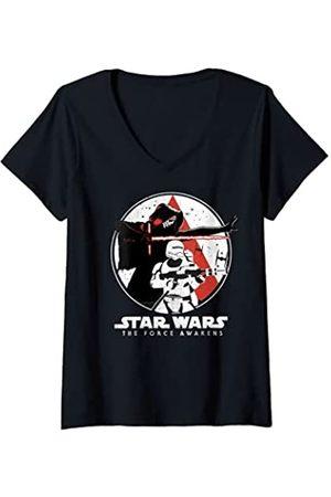 STAR WARS Mujer The Force Awakens Battle Pose Camiseta Cuello V
