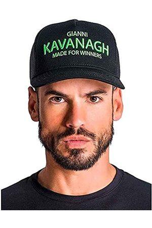 Gianni Kavanagh Black Cap with Neon Green GK Made For Winners Logo Gorra de béisbol