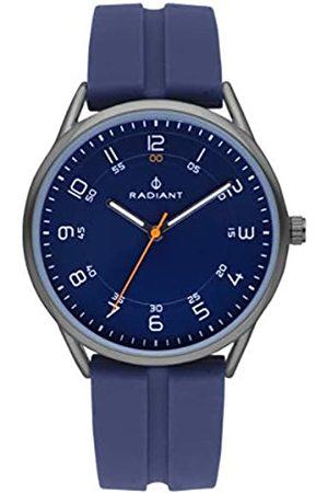 Radiant Reloj analógico para Hombre de . Colección Taycan. Reloj Gris con Esfera Azul y Correa de Silicona a Tono. 3ATM. 41mm. Referencia RA517605.