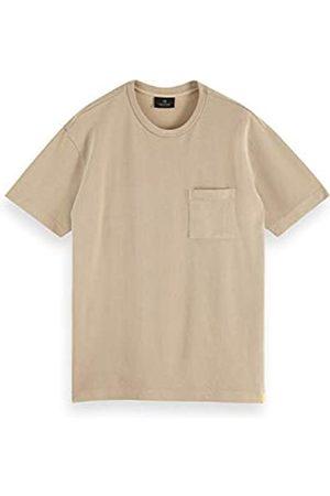 Scotch&Soda Garment-Dyed-T-Shirt mit Rundhalsausschnitt aus Bio-Baumwoll-Piqué Camiseta
