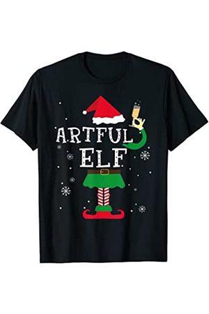 Regalos de vacaciones artesanales de navidad Elef Artful Divertida Navidad Regalo Pijamas Elfos Camiseta