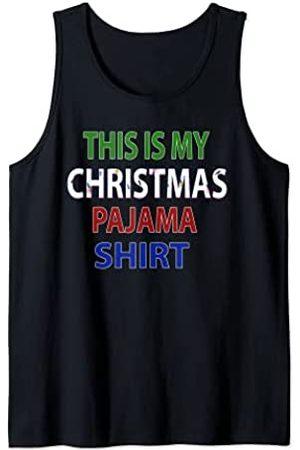 GreatTees This Is My Christmas Pajama Funny Camiseta sin Mangas