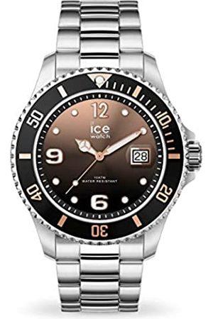 Ice-Watch Ice Steel Black Sunset Silver - Reloj Plateado para Mujer con Correa de Metal