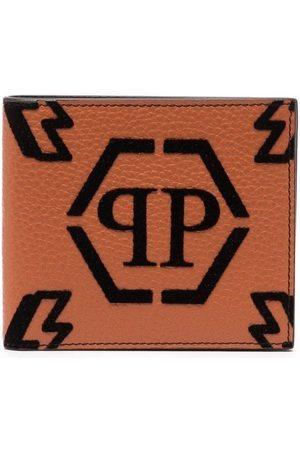Philipp Plein Cartera plegable con monograma