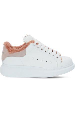 Alexander McQueen Mujer Zapatillas deportivas - | Mujer Sneakers De Piel Y Shearling 45mm /rosa 35