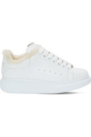 Alexander McQueen Mujer Zapatillas deportivas - | Mujer Sneakers De Piel Y Shearling 45mm 35