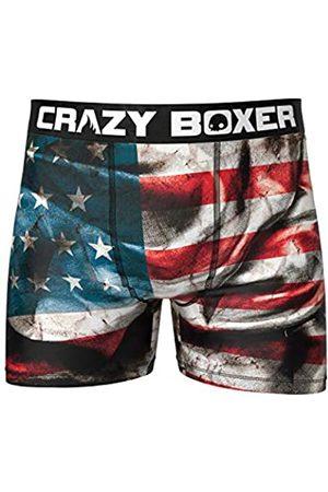 Crazy Boxer T092-2-S Boxer unitario Microfibra (92% poliéster-8% Elastano), USA/Purgue