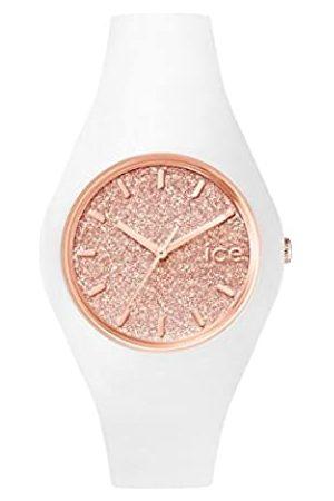 Ice-Watch ICE Glitter White Rose-Gold - Reloj para Mujer con Correa de Silicona