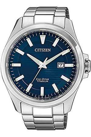 Citizen Reloj Analógico para Hombre de Cuarzo con Correa en Titanio BM7470-84L