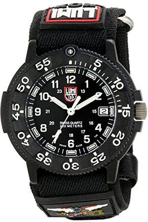 Luminox 3901 - Reloj analógico de caballero de cuarzo con correa textil negra - sumergible a 200 metros