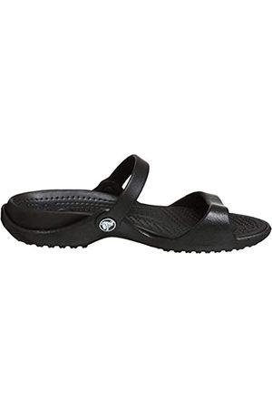 Crocs Cleo, Sandalias de Punta Descubierta para Mujer Black 060