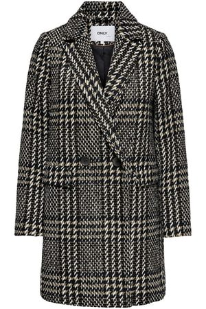 ONLY CHECKED WOOL COAT
