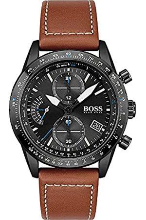 HUGO BOSS Reloj Cosa análoga para de los Hombres de Cuarzo con Correa en Cuero 1513851