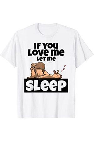 linda idea para regalar una camisa para dormir con Pijama de alpaca de los perezosos - Dormilón largo Camiseta