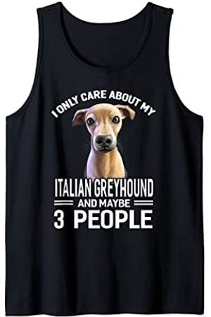 Dogs 365 Solo me importa mi galgo italiano y tal vez 3 personas Camiseta sin Mangas
