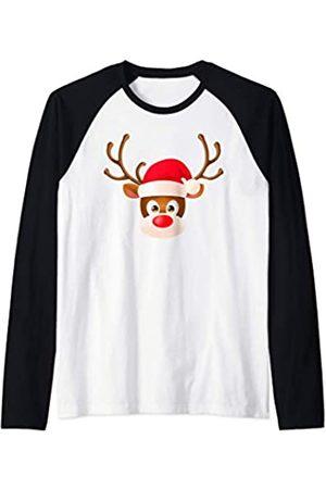 Regalos Originales de Navidad para Familias Co Gracioso Reno Pijama Navidad Bonito Regalo Mujer Hombre Camiseta Manga Raglan
