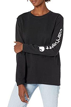 Carhartt Logo Long-Sleeve T-Shirt Camisetas, Black