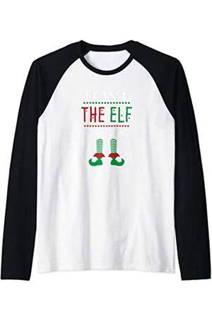 Best Christmas Designs Supply Co. Pijama divertido de Navidad de la familia elfo a juego para primos Camiseta Manga Raglan