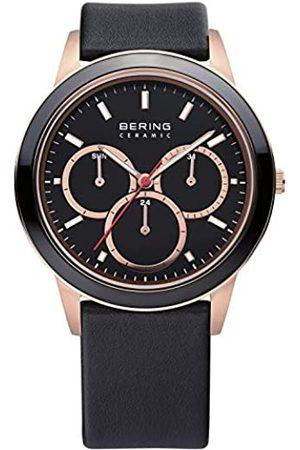 Bering Reloj Analógico Ceramic Collection para Unisex de Cuarzo con Correa en Cuero y Cristal de Zafiro 33840-446