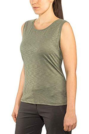 Schöffel Camiseta Funcional para Mujer Namur2, Fina y Ligera, elástica y Transpirable, con Factor de protección Solar, Mujer, Camiseta de Tirantes para Mujer, 11947, ágave