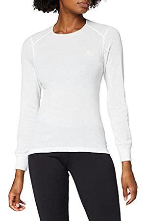 Odlo Bl Top Crew Neck L/S Active Warm Camiseta, Mujer, White