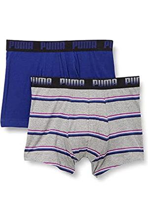 PUMA Men's Gradient Stripe Boxer (2 Pack) Ropa Interior L para Hombre