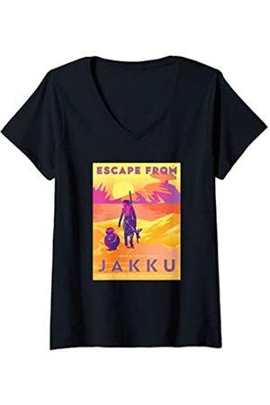 STAR WARS Mujer The Force Awakens Escape From Jakku Camiseta Cuello V