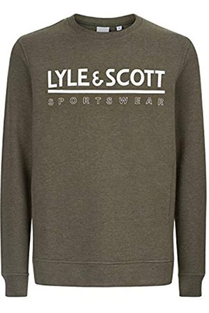 Lyle & Scott Logocrewmidlayer - Sudadera para Hombre, Hombre, ML1063SPZ367OliveMarl